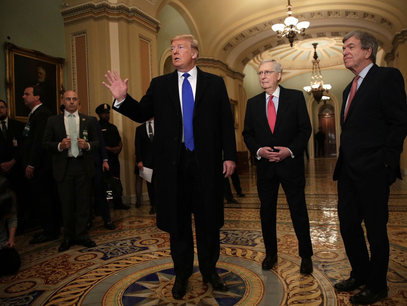 President Trump and Senate Republicans are at odds over tariffs on Mexico.