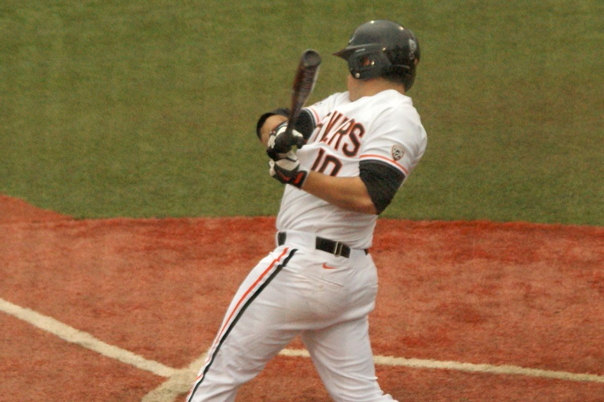 Dylan Davis has been on a tear at the plate for Oregon St. of late. Extending his hitting streak could help the Beavers in their quest to sweep Arizona.