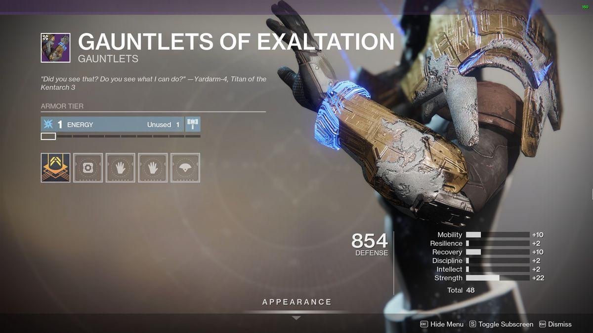 Destiny 2's Gauntlet of Exaltation