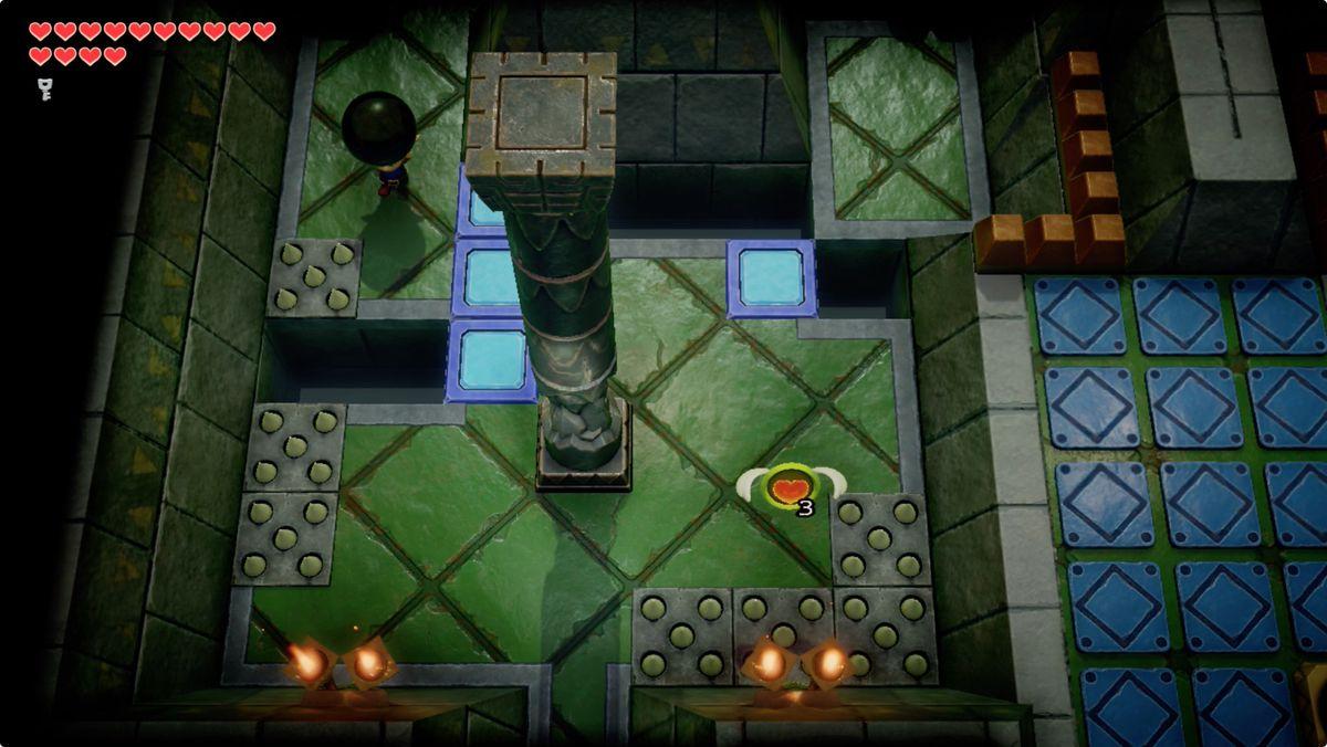 Link's Awakening Eagle's Tower destroy the second pillar