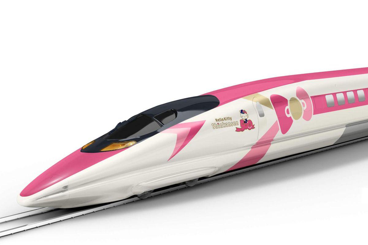 Rendering of Hello Kitty train