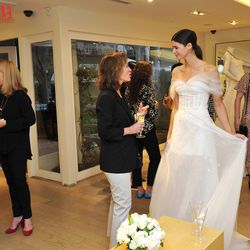Guests got an up-close look at the gowns.