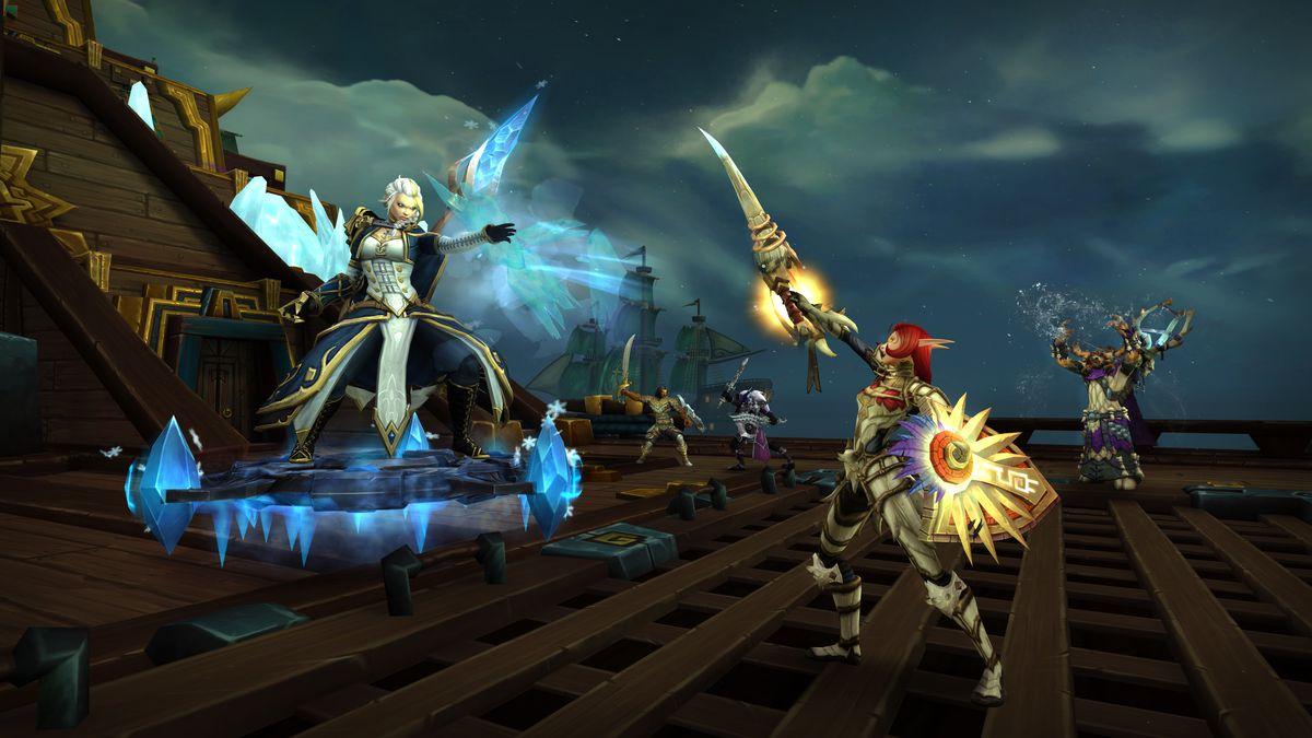 World of Warcraft - raiders attack Jaina Proudmoore