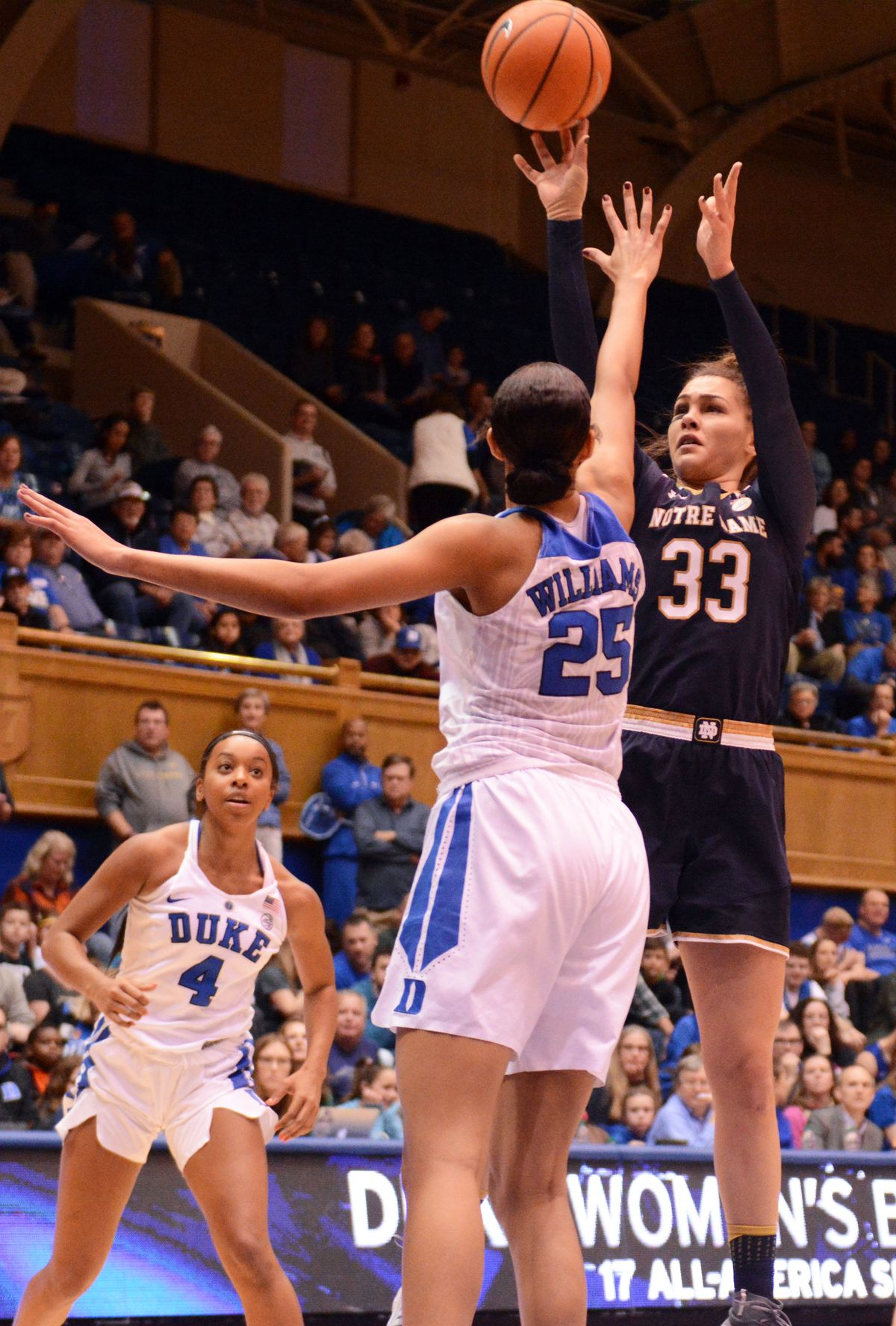 NCAA Womens Basketball: Notre Dame at Duke