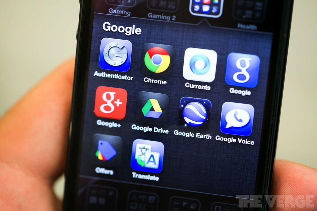 Google iOS apps stock 1020