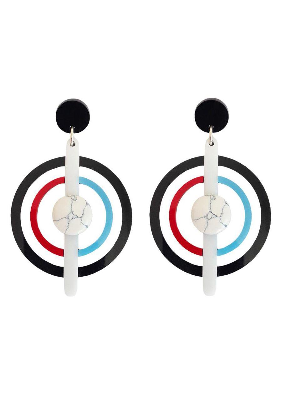 Melody Ehsani Marble Daze Black Earrings, $42