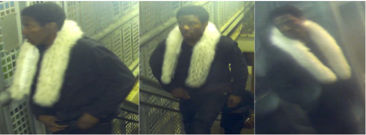 Surveillance images of the suspect in a robbery Feb. 4 at the CTA Brown Line Sedgwick station. | Chicago police