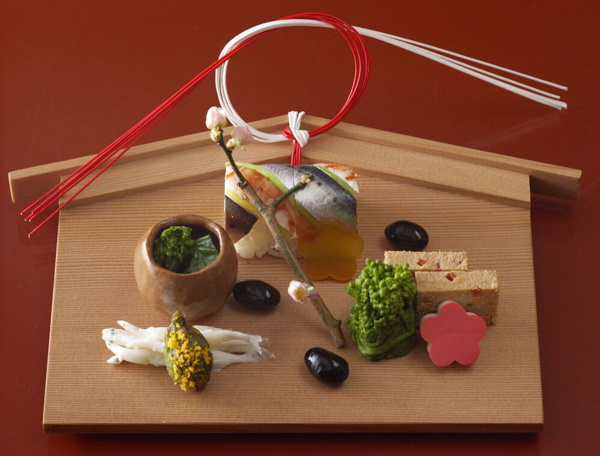 A dish from Roketsu's kaiseki residency at Brown's Hotel Mayfair