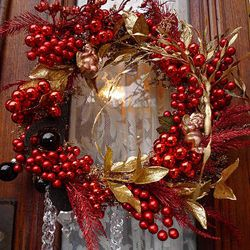 Wreath with glitter
