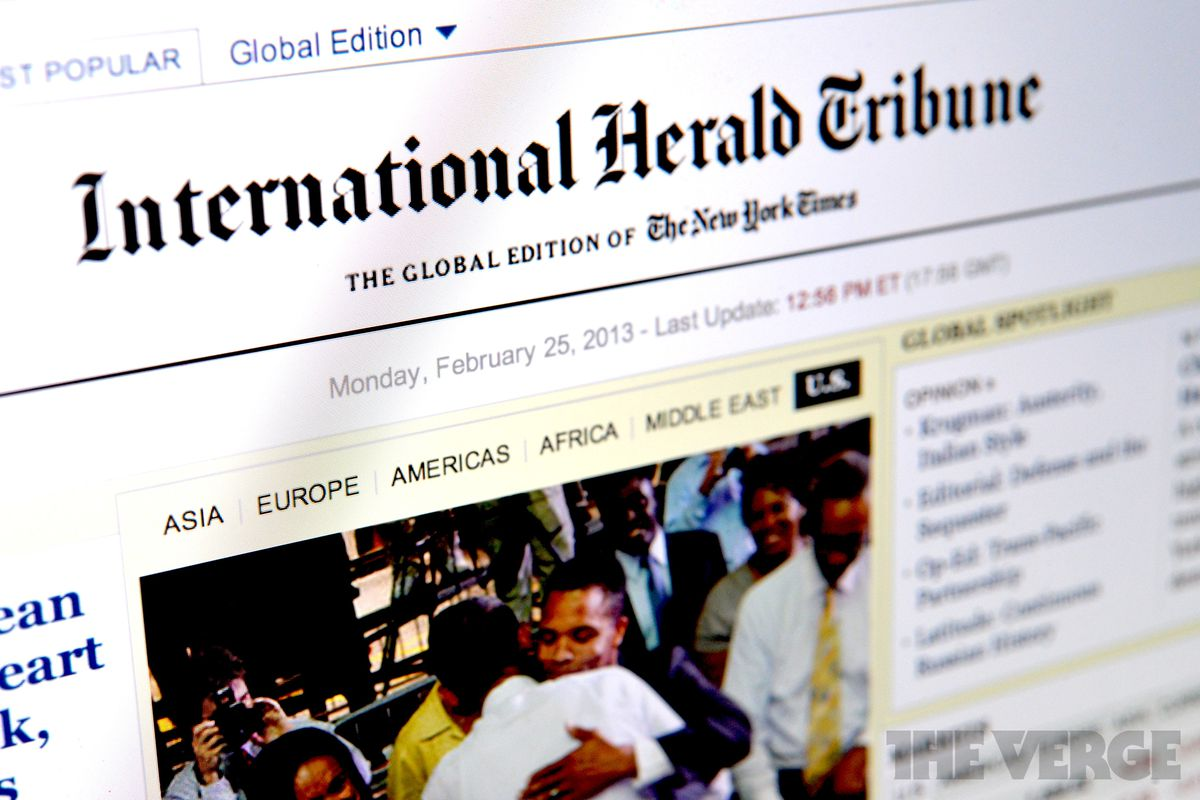 "Mediagazer: nyt renames global edition ""new york times."