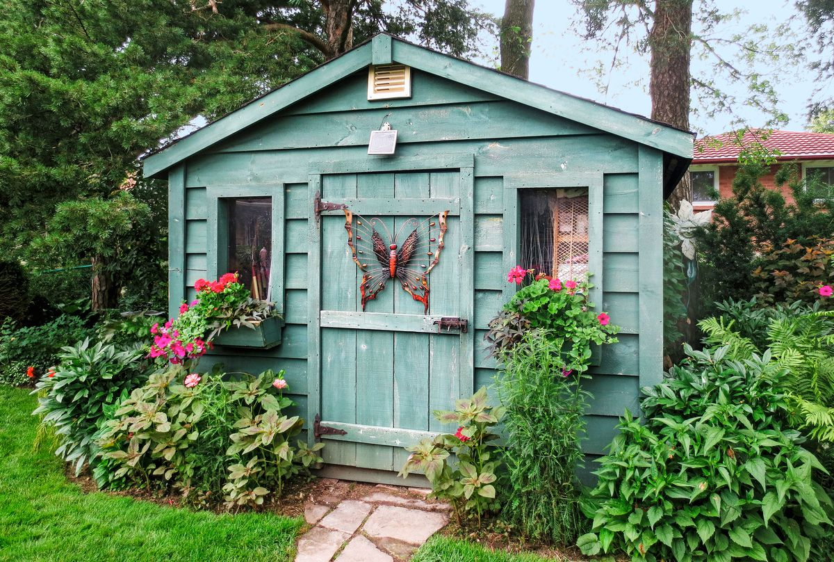 Window Boxes And Shrubs Accent Cottage Garden Shed