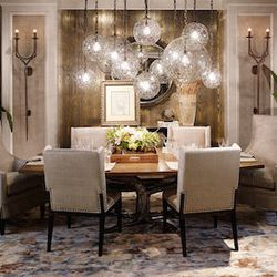 The dining room was designed by Erik Kolacz of Contrast Design Group, and inspired by his travels to California wine country. [Photos: Courtesy of the Merchandise Mart]