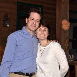 John and Kelly DeGarmo pose on the front porch of their Monticello, Georgia, home on Feb. 28.