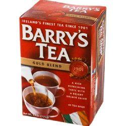 "<a href=""http://www.jollyposh.com/shop/p-19-barrys-gold-label-teabags.aspx"">Barry's Tea</a>, $6, is a classic Irish black tea."