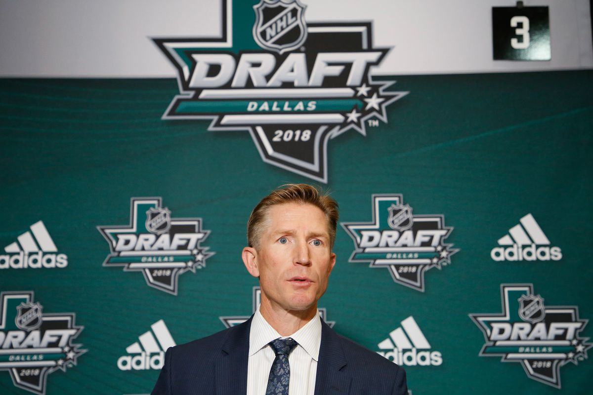 The newest member of the Maple Leafs coaching staff, seen here at the 2018 NHL Draft.