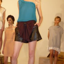 Leather Ribbon Shorts (in brown and black $282 )