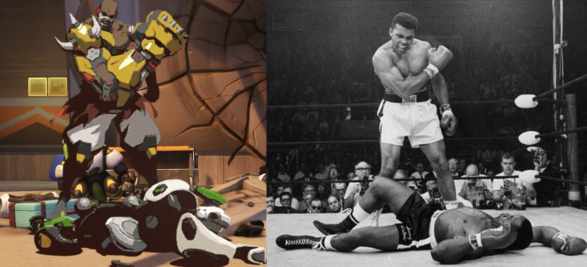 Doomfist mimics a legendary boxing photo.