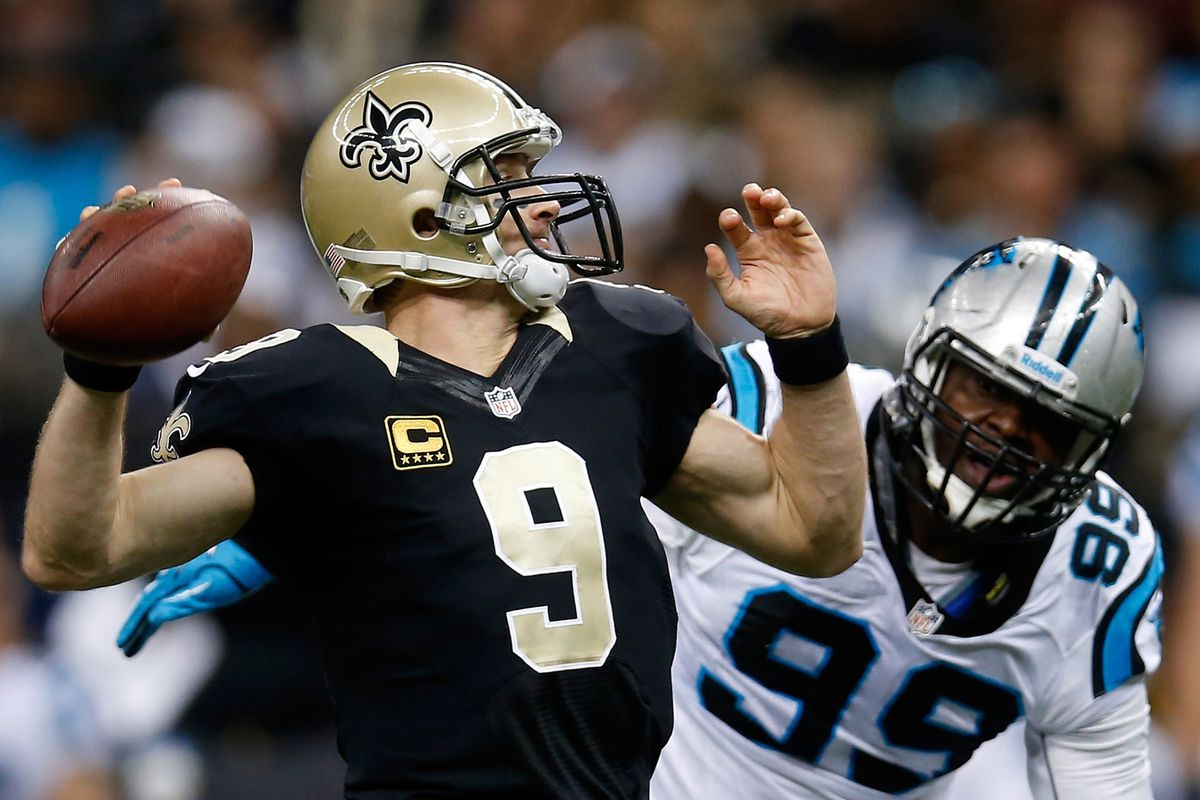 Brees would love not to have to worry about his blindside on Sunday.