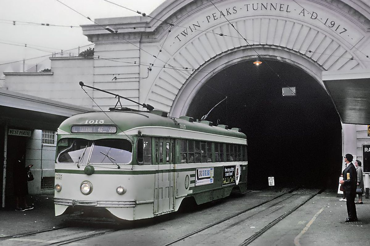 West Portal Station in 1967.