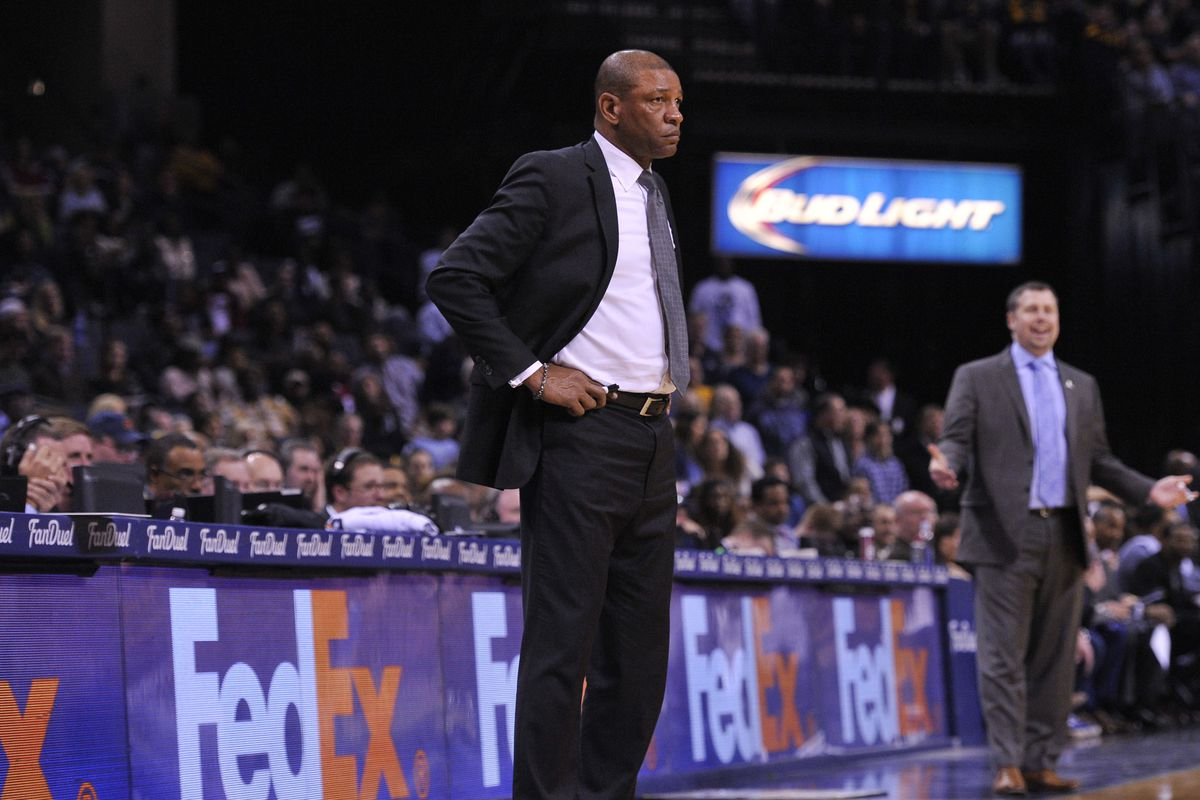 Doc Rivers looks on during Saturday night's game in Memphis