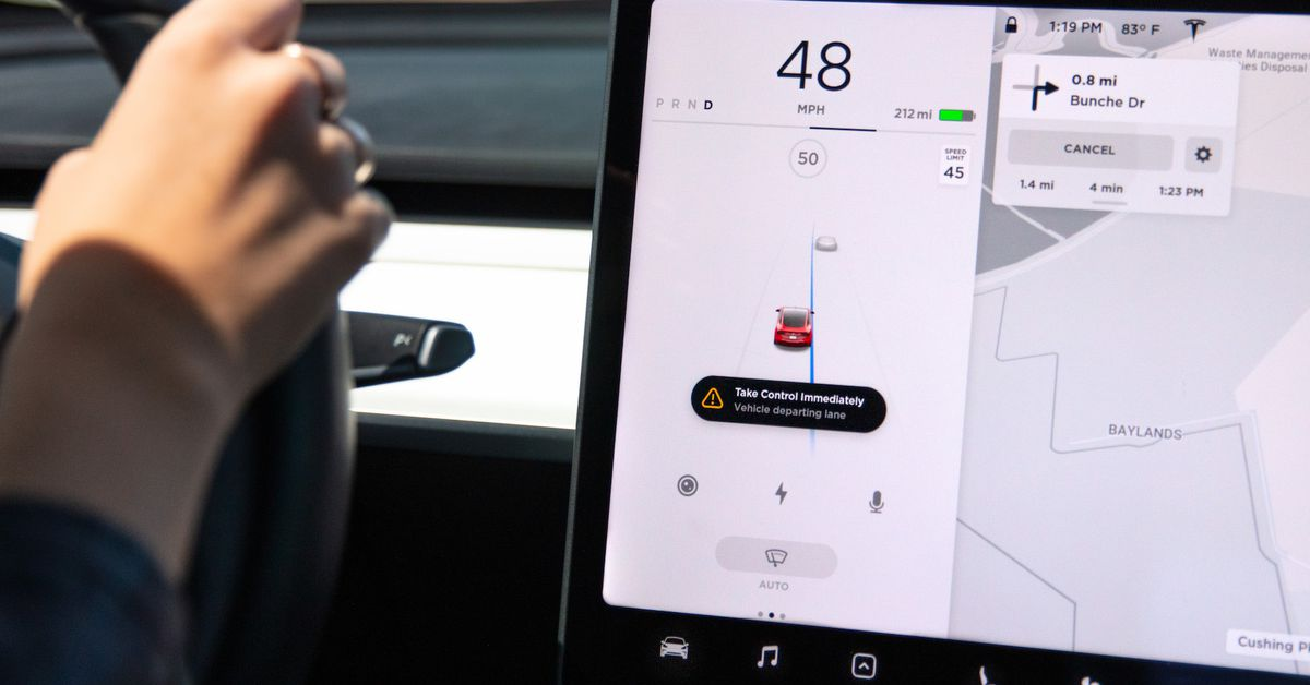 Tesla's New Safety Features Really Push You to Stay in your Lane