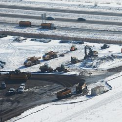 A road to the new state prison is being constructed in Salt Lake County on Wednesday, Dec. 28, 2016.