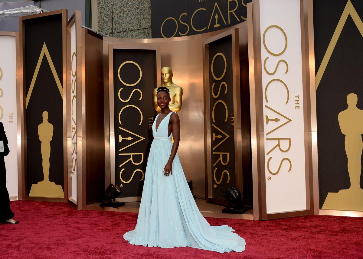 Lupita Nyong'o in Prada at the 2014 Academy Awards.