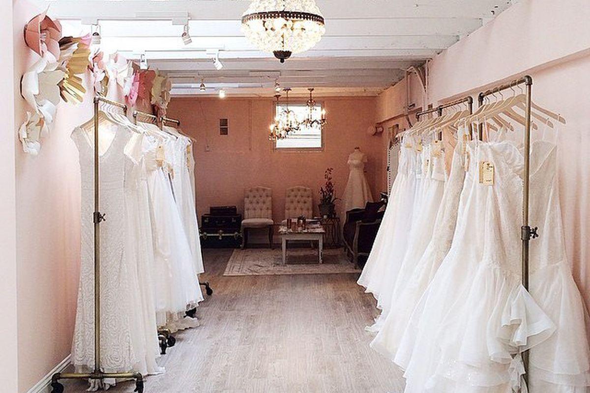 """Lovely's SF store; photo by Meghan Mehan via Lovely Bride/<a href=""""http://instagram.com/lovelybride"""">Instagram</a>"""