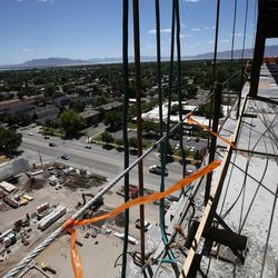 View from the 10th floor of the new patient tower for Utah Valley Hospital in Provo on Tuesday, July 5, 2016.