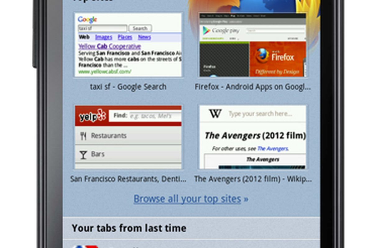 Firefox 14 beta for Android now available, features revamped