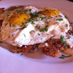 """Chicken Fried Steak from Allswell by <a href=""""http://www.flickr.com/photos/polsia/7754730704/in/pool-eater/"""">Polsia</a>"""