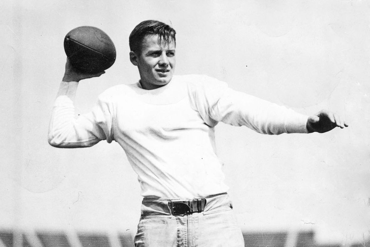 """QB William Henry Harrison """"Tippy"""" Dye played a role in the decisive victory in 1934."""