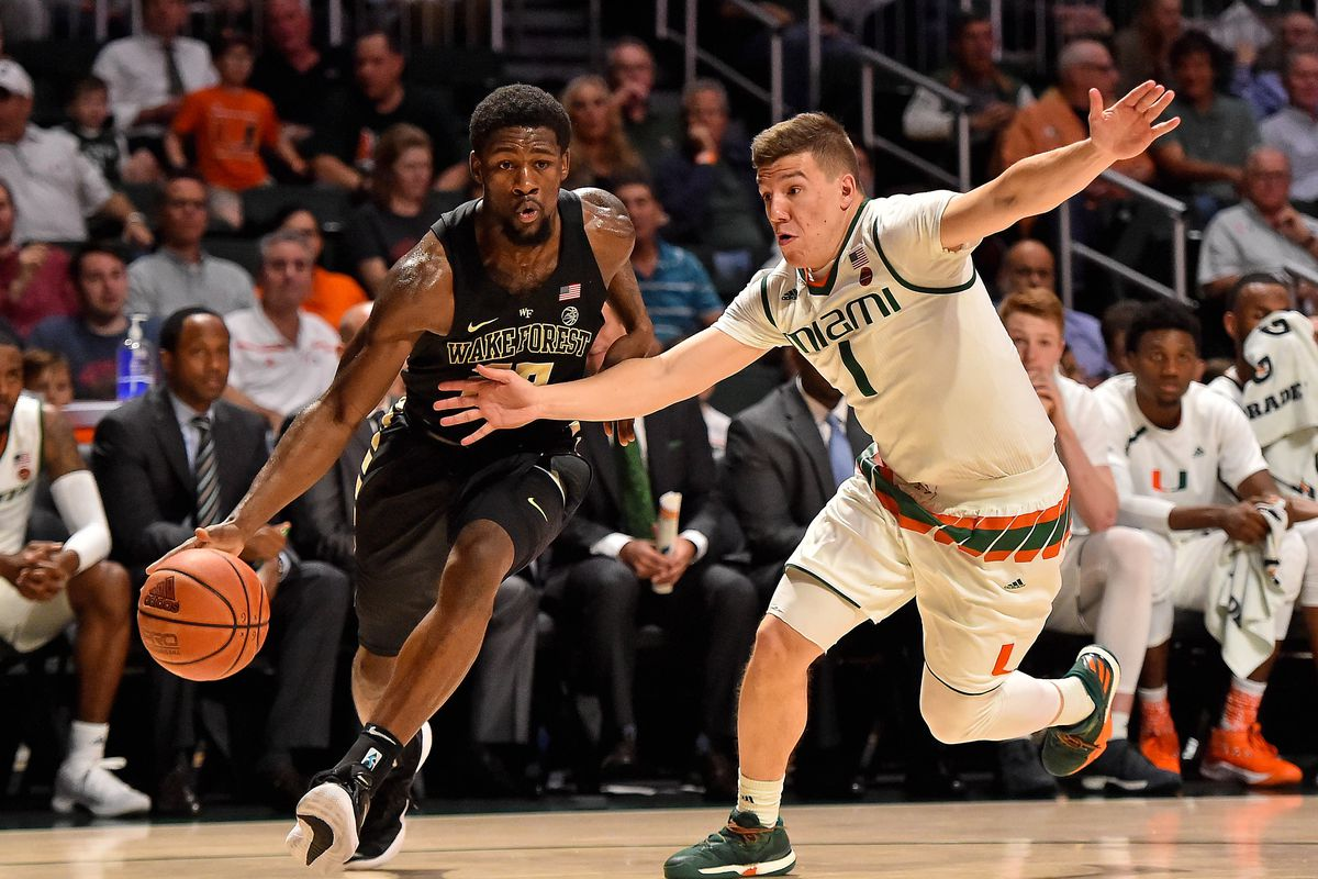 NCAA Basketball: Wake Forest at Miami