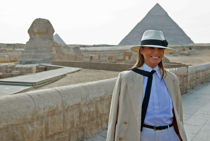 "MelaniaTrumpEgypt Melania Trump finally gave an explanation for her  ""I don't really care. Do U?"" jacket"