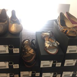 Flats and sandals, $50