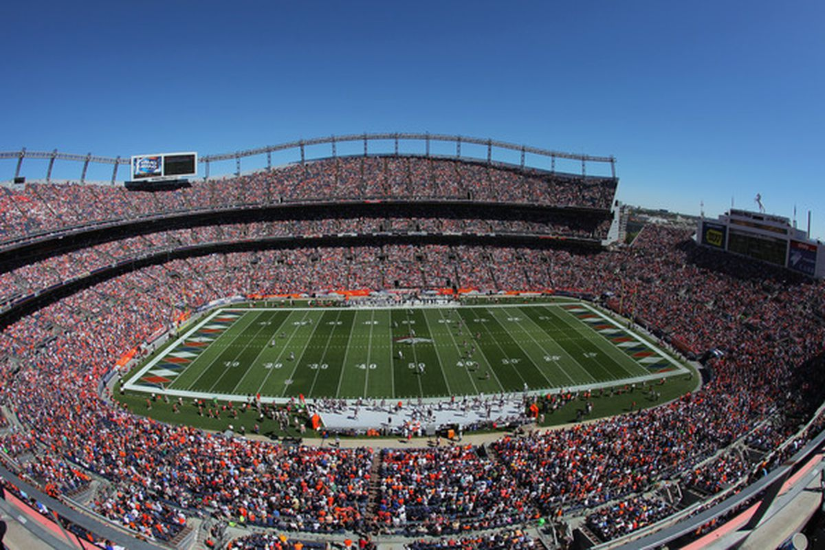 Invesco Field Grass Home Of The Denver Broncos Is