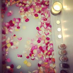 """Whenever I can take a bath, I add organic rose petals to make me beautiful. This is one of my favorite rituals that heals my spirit and washes off all the accumulated city """"eek."""" You will feel like a queen."""