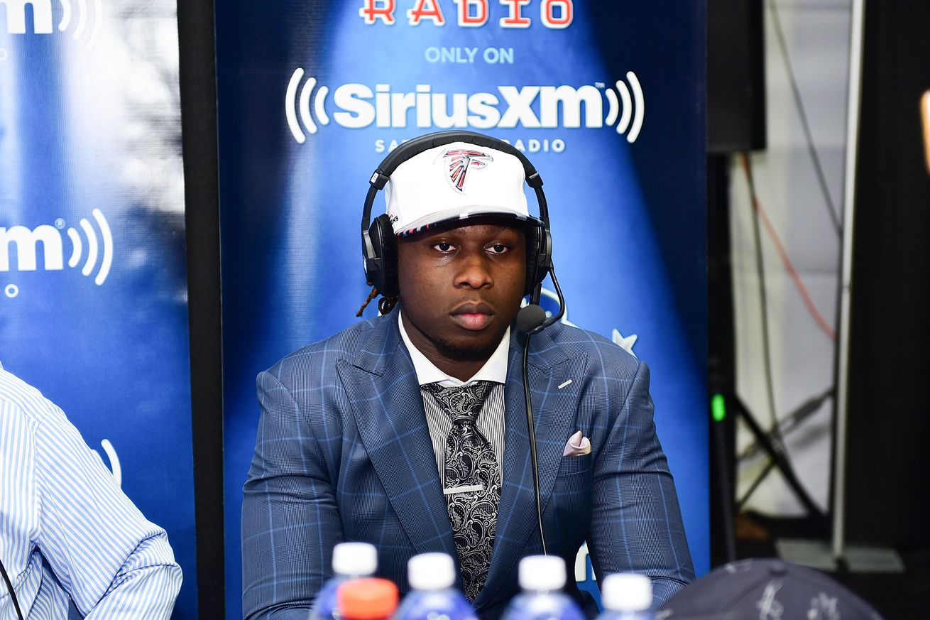 Will Takkarist McKinley set the Falcons rookie record for sacks?