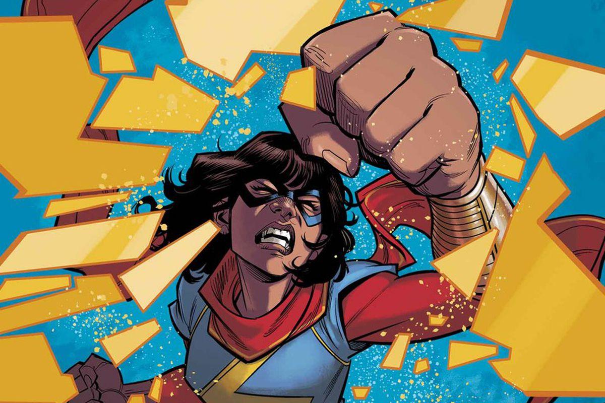 Ms. Marvel (Kamala Khan) on the cover of Ms. Marvel #11, Marvel Comics, 2016.
