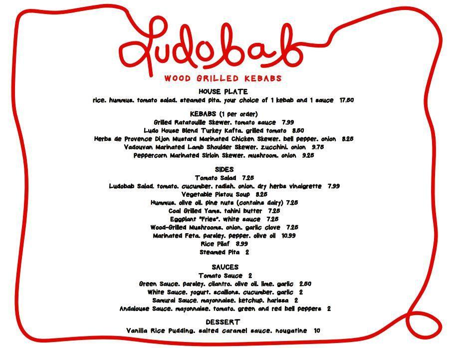 Ludobab menu