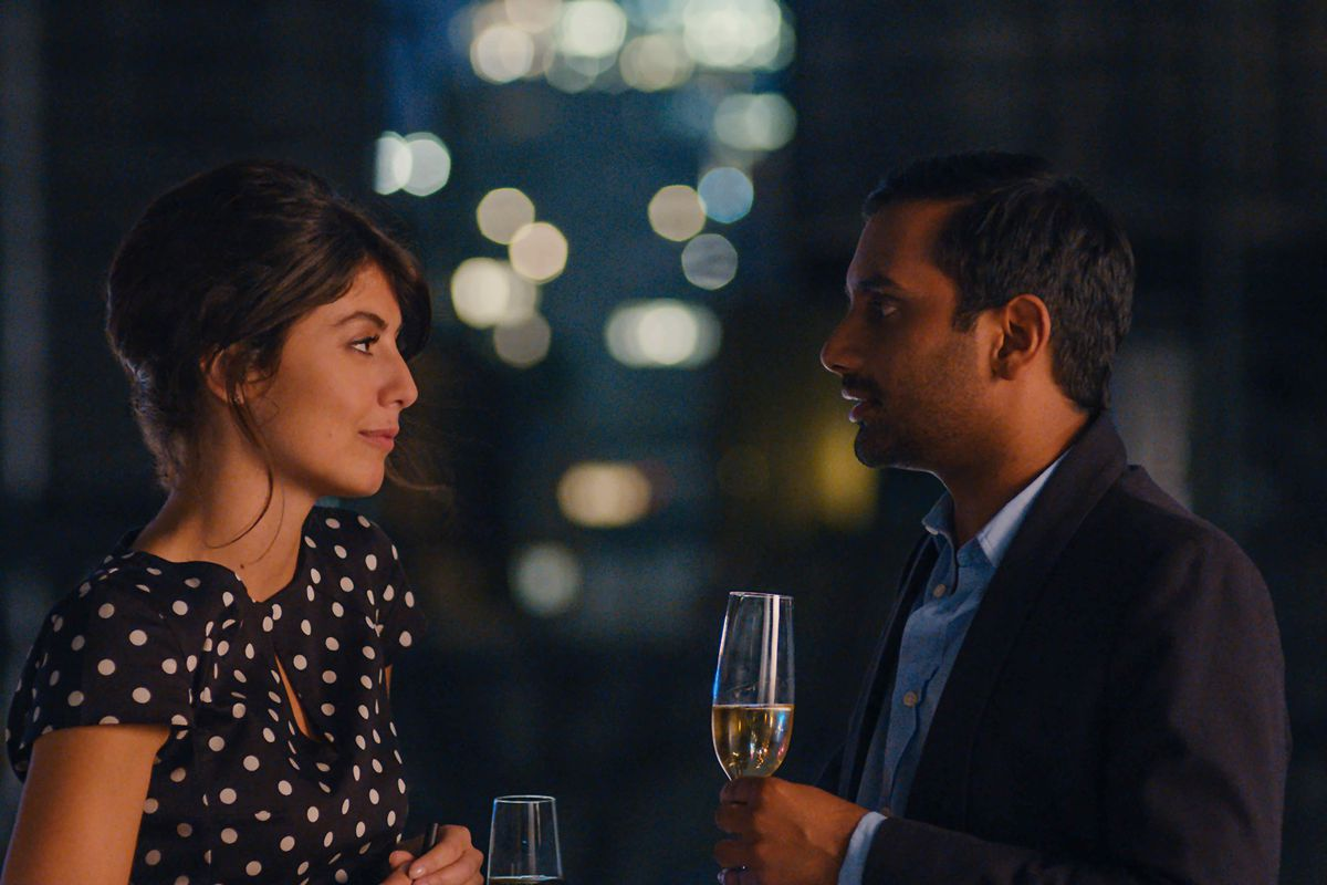 Aziz Ansari fashions himself a dating expert. But clearly he's still learning