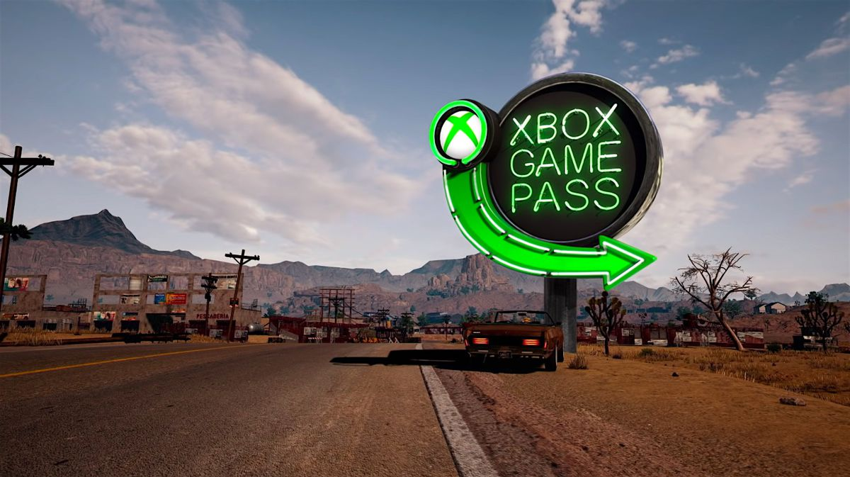 An Xbox Game Pass neon sign appears in a screenshot of PUBG