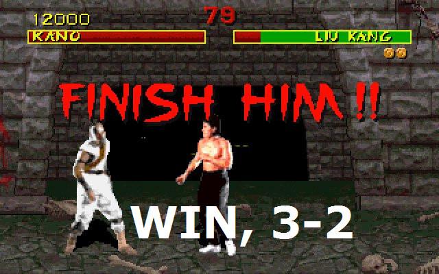 WIN, 3-2