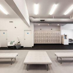 The locker room area.