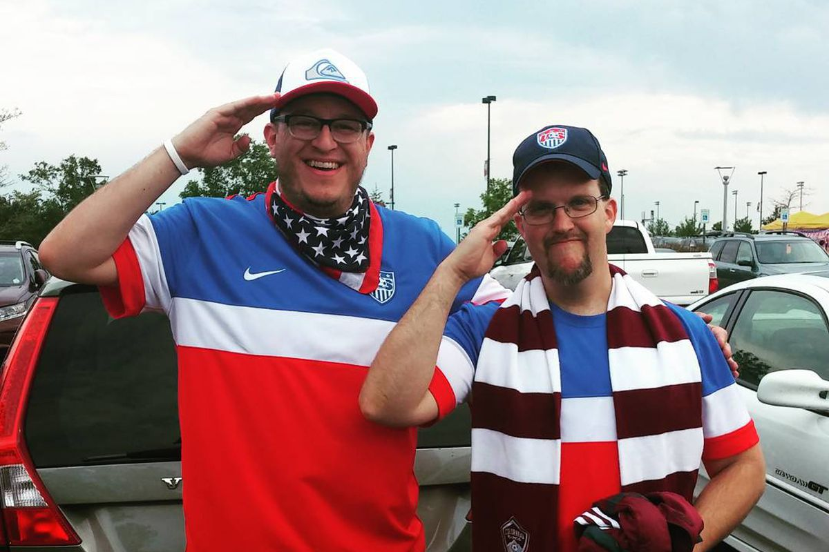 Kevin (left) and I before the July 4th game against Vancouver. Sa-lute!