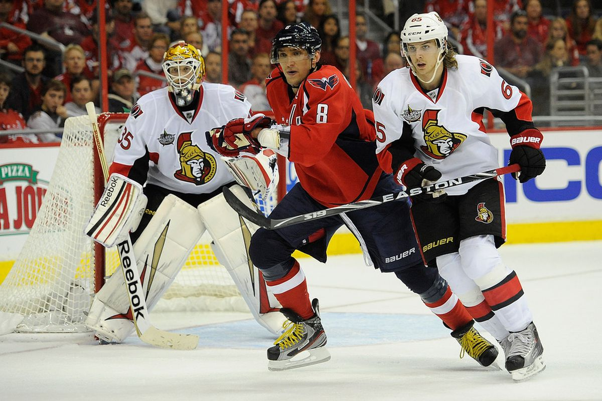 Erik Karlsson has been one of the few bright spots so far. (Photo by Patrick McDermott/Getty Images)