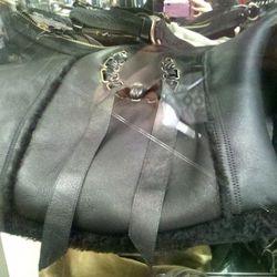Nina Ricci shearling lined bag, $800