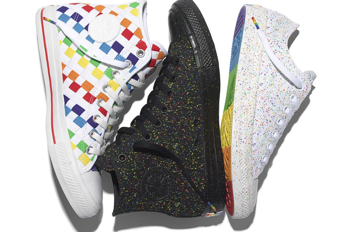 da9b8cb81db Converse Just Released Its New Pride Collection of Rainbow Sneakers ...