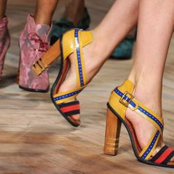 The shoes at Tommy Hilfiger. Photo credit: Getty Images