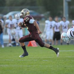 Lone Peak's Baron Gajkowski did damage on both the ground and through the air as Timpview reigned supreme over Lone Peak 36-33.